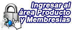 Login área de productos y membresias expansión de luz