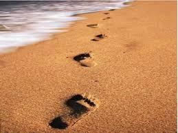 huellas en playa